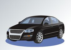 Volkswagen Passat. Volkswagan passat, designed in corel draw  initialy as a  base, exported as a picture Stock Images