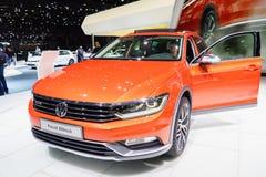 Volkswagen Passat Alltrack, Motor Show Geneve 2015. Royalty Free Stock Image