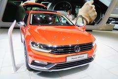 Volkswagen Passat Alltrack, Motor Show Geneve 2015. Royalty Free Stock Photo