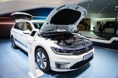 Volkswagen Passat GTE, Motor Show Geneve 2015. Volkswagen Passat Named 2015 European Car Of The Year Royalty Free Stock Photo