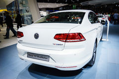 Volkswagen Passat TDi BlueMotion, Motor Show Geneve 2015. Stock Photos