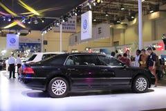 Volkswagen phaeton car. Black volkswagen phaeton car exhibited in amoy city, china Stock Image