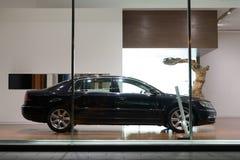 Volkswagen Phaeton cars for sale. Volkswagen Phaeton cars in showroom for sale.  2014.06 Royalty Free Stock Photography
