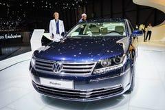 Volkswagen Phaeton, salón del automóvil Geneve 2015 fotografía de archivo libre de regalías