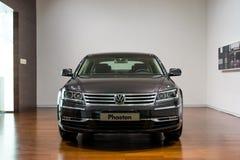 Volkswagen Phaeton for sale. Volkswagen Phaeton in showroom for sale.  2014.06 Stock Photography