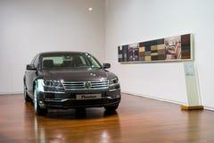 Volkswagen Phaeton for sale. Volkswagen Phaeton in showroom for sale.  2014.06 Royalty Free Stock Photography