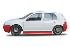 Volkswagen Polo. A Volkswagen red and white polo car royalty free stock images