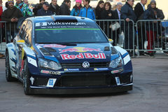 Volkswagen Polo R WRC - Monte Carlo Rally 2016 Royalty Free Stock Images