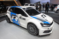 Volkswagen Polo R WRC - Russian premiere Royalty Free Stock Photo