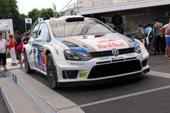 Volkswagen Polo Rally Car Arkivbilder