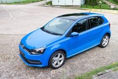 Volkswagen Polo TSI 2014 provdrev Arkivfoto