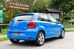 Volkswagen Polo TSI 2014 provdrev Arkivbilder