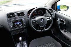 Volkswagen Polo TSI 2014 test drive stock photography