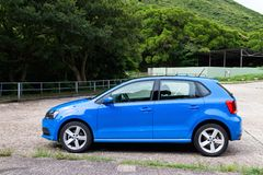 Volkswagen Polo TSI 2014 test drive Royalty Free Stock Images