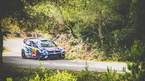 Volkswagen polo world rally car Royalty Free Stock Images