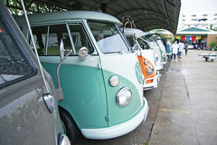 Volkswagen retro vintage car / Split Bus Royalty Free Stock Photo