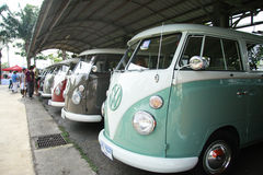 Volkswagen retro vintage car / Split Bus Royalty Free Stock Images