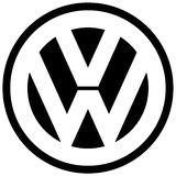 Volkswagen VW logo icon car manufacturer royalty free illustration