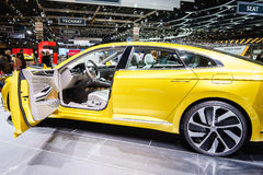 VOLKSWAGEN Sport Coupe Concept GTE, Motor Show Geneva 2015. Stock Image
