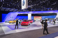 Volkswagen stand on display Royalty Free Stock Image