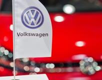Volkswagen-Stand während CEE 2017 in Kiew, Ukraine Stockfotos