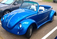 Volkswagen Super Beetle Convertible Royalty Free Stock Photos