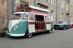 Volkswagen, T1, camping-car d'écran divisé Images libres de droits