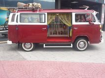 Volkswagen T2. For exposure, a van that we all know and interact instantly with past Stock Photography