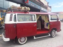 Volkswagen T2. For exposure, a van that we all know and interact instantly with past Royalty Free Stock Image