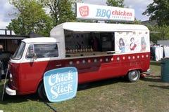 2016: volkswagen t2 foodtruck w Amsterdam Obrazy Stock