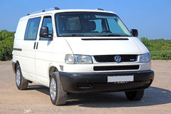 Volkswagen T4 2001 pass white Royalty Free Stock Image