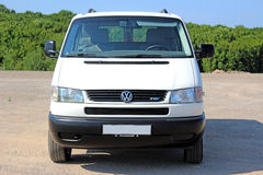 Volkswagen T4 2001 pass white Royalty Free Stock Photography