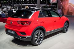 Volkswagen T-Roc car. FRANKFURT, GERMANY - SEP 13, 2017: Volkswagen T-Roc car at the Frankfurt IAA Motor Show Stock Photos