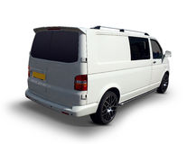 Volkswagen T30 TDI van from behind Stock Images