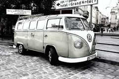 Volkswagen T1. Transport, car, commercial, background, vintage Royalty Free Stock Photography