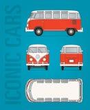 Volkswagen-T1 van vector beeld stock afbeelding