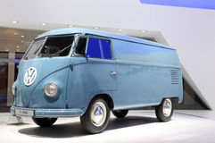 Volkswagen T1 Van from 1950. HANNOVER - SEP 20: Volkswagen T1 Van from 1950 at the International Motor Show for Commercial Vehicles on September 20, 2012 in royalty free stock photo