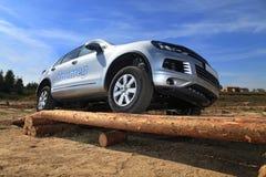 Volkswagen test drive in Ukraine Stock Image