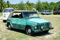 Volkswagen Thing with camouflage Stock Photos