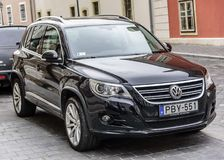 Volkswagen Tiguan Parked on the streets of Budapest. Royalty Free Stock Photos