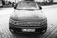 Volkswagen Tiguan-r-Lijn model 2017 voorzijde Royalty-vrije Stock Fotografie