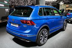 Volkswagen Tiguan R-Line car. FRANKFURT, GERMANY - SEP 13, 2017: Volkswagen Tiguan R-Line car at the Frankfurt IAA Motor Show Stock Photo