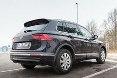 Volkswagen Tiguan, R-linha do europeu 4x4 Foto de Stock Royalty Free