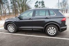 Volkswagen Tiguan 4x4 R-linje, sida Fotografering för Bildbyråer