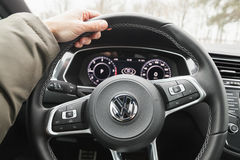 Volkswagen Tiguan vehicle interior Royalty Free Stock Images