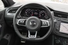 Volkswagen Tiguan, 4x4 linii wnętrze Fotografia Stock