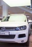 Volkswagen Touareg in the lobby Volkswagen Center Varshavka Royalty Free Stock Image