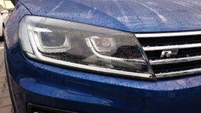 Volkswagen Touareg R Line headlight Stock Photos