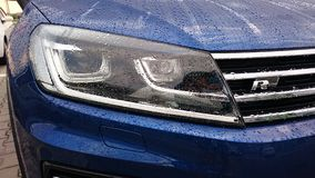 Volkswagen Touareg R Line headlight Stock Photos