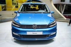 Volkswagen Touran, Motor Show Geneve 2015 Stock Photography